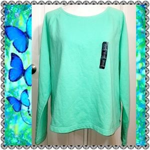 {Gap} lt. green split-back crewneck sweatshirt, XL